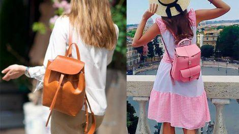 Большой или маленький: выбираем кожаный женский рюкзак