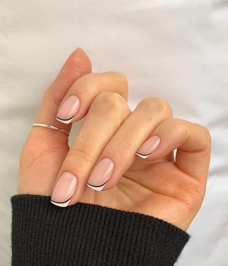Маникюр на короткие ногти френч