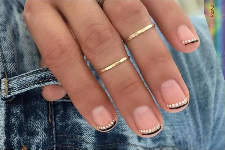 Тренды маникюра на короткие ногти френч